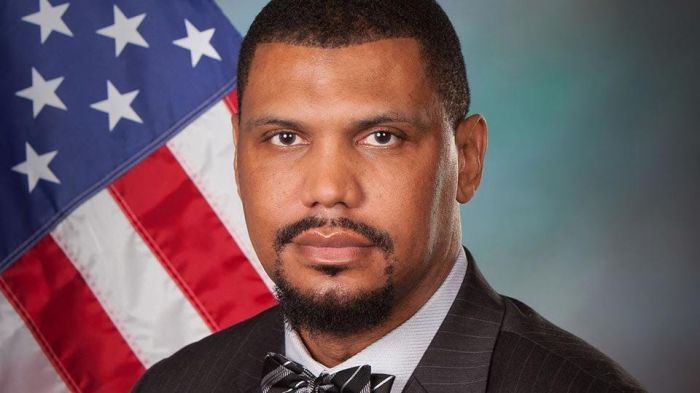 New Charlottesville City Manager Tarron Richardson. Note the bowtie, signature neckware of the murderous Nation of Islam.