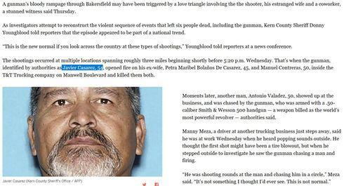 VDARE com: Hispanic Gunman In Bakersfield Killed 5 And Self In