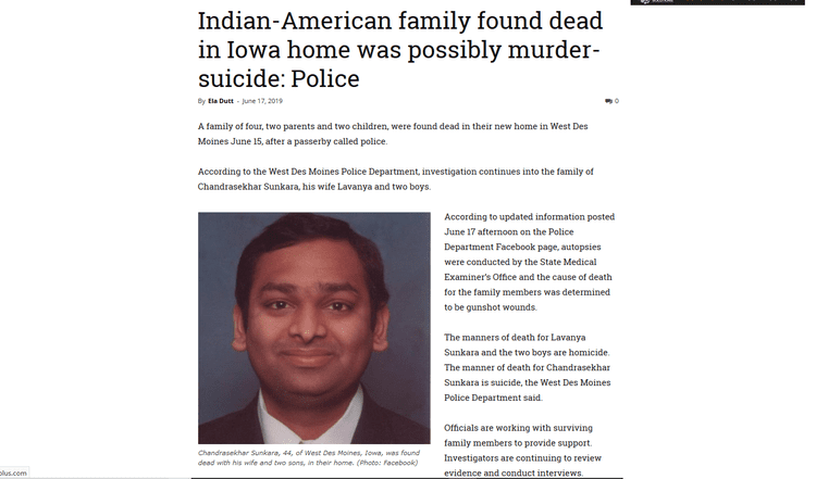 Indian Immigrant Mass Murder, Or