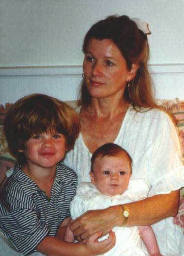 Maggy Brimelow with Alexander and Hannah Claire, months before breast cancer was diagnosed in 1996<