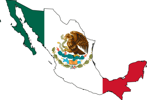 Mexico flag map1