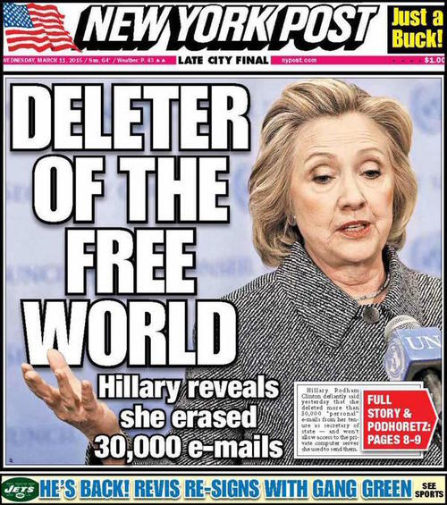 Ny post front page clinton1