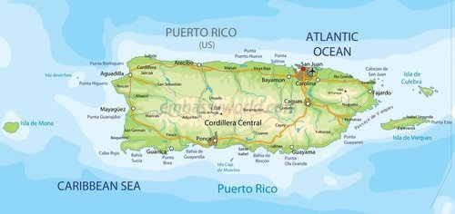 Puerto rico map physical1