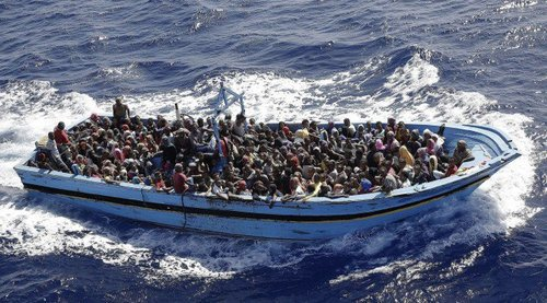 These people all paid good money for this dangerous trip--the expect to make it all back in Europe.
