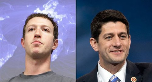 "The picture above is from a 2013 POLITICO story--""Zuckerberg group defends Ryan"""
