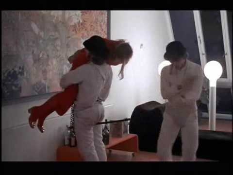In Stanley Kubrick's A CLOCKWORK ORANGE, there is a graphic home invasion and rape scene committed by white thugs.