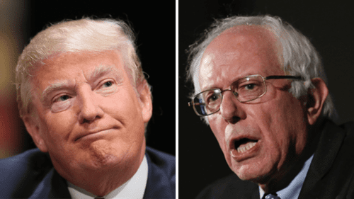 Trump & Sanders. Credit: VDare.com