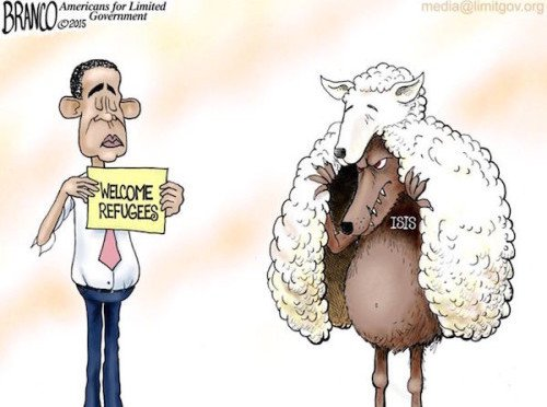 CartoonRefugeeWolfSheepClothingObama-500x375