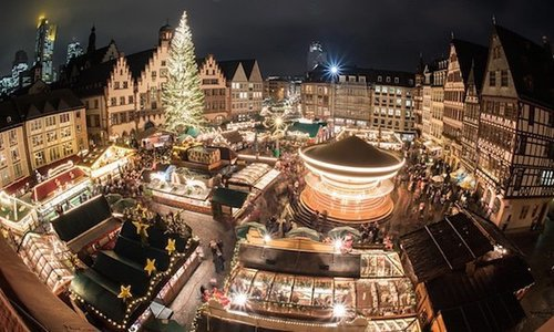 Frankfurt's Christmas market is one of Germany's largest.