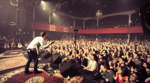 A live concert in the Bataclan  Theatre, four years before the attack. Terror (and Open Borders) may force audiences to watch from home.
