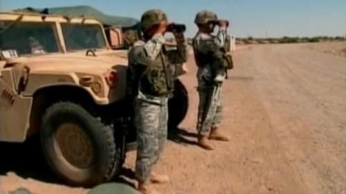 American troops guarding the American border, not the Syrian or Iraq border.