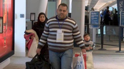 Syrian refugees arrive in Louisville, KY. Whatever they're fleeing, it isn't starvation.