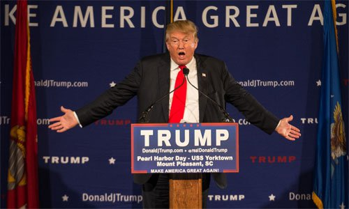 Trump speaks on Pearl Harbor Day aboard the USS Yorktown