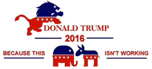 Trump elephant donkey