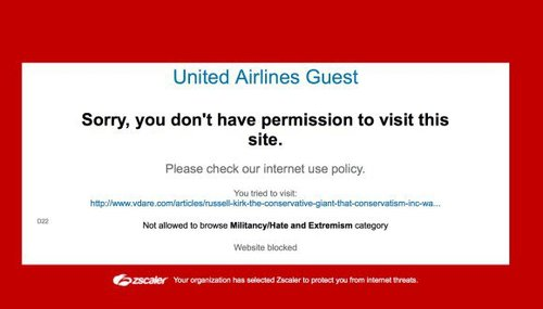 United airlines vdare blocked