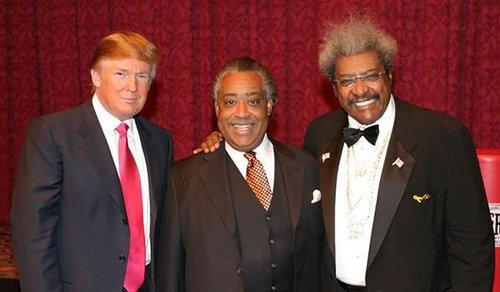 Trump sharpton king 0