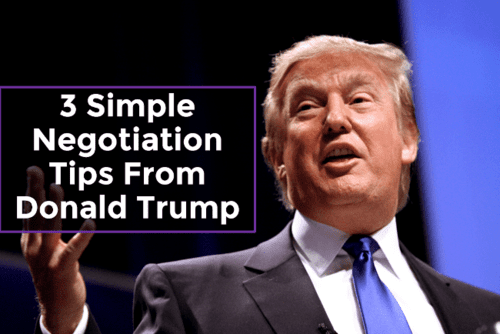 3 simple negotiation tips from donald trump