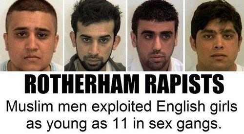 Muslim rape gang girls england rotherham uk