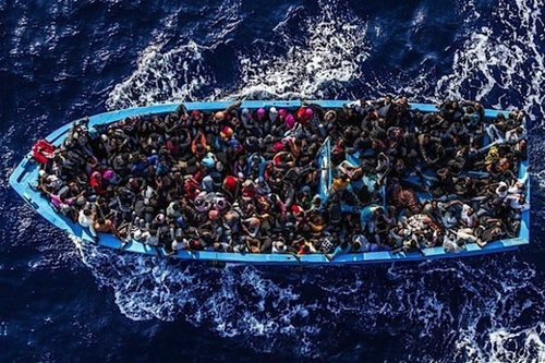 Africanmigrantsboateuropeaerial