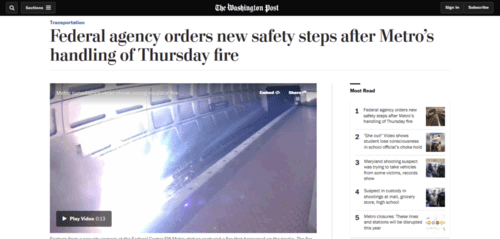Federal agency orders new safety steps after metro's handling of thursday fire   the washington post   2016 05 07 21.19.02