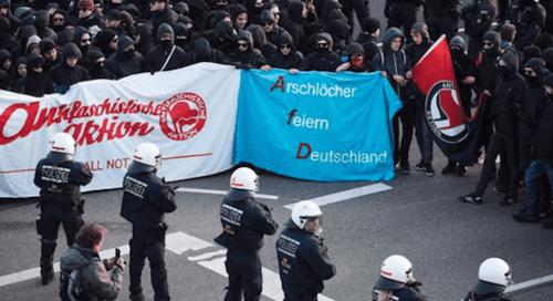 Germanyanarchistsprotestafdmeeting