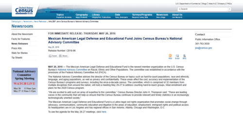 Maldef joins census bureau's national advisory committee   2016 05 26 23.40.56