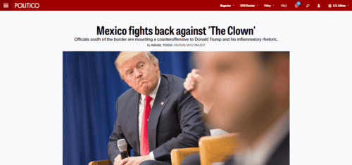 Mexico fights back against the clown   politico   2016 05 13 17.57.40