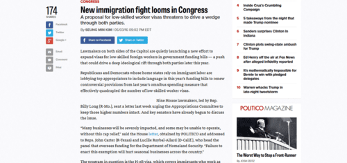 New immigration fight looms in congress   politico   2016 05 04 16.45.57