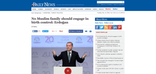 No muslim family should engage in birth control erdoğan   politics   2016 05 31 11.31.49