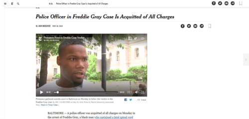 Police officer in freddie gray case is acquitted of all charges   the new york times   2016 05 23 15.53.32