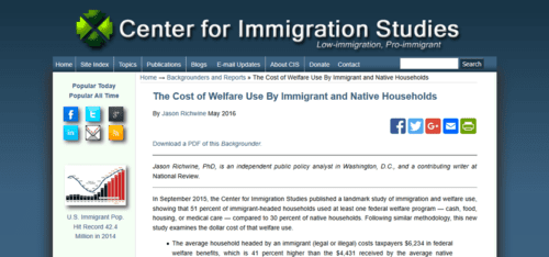 The cost of welfare use by immigrant and native households center for immigration studies   2016 05 09 11.00.18