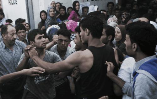 Violentmuslimrefugeesfight