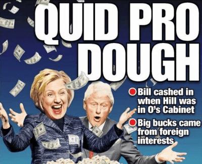 Clinton quid pro dough