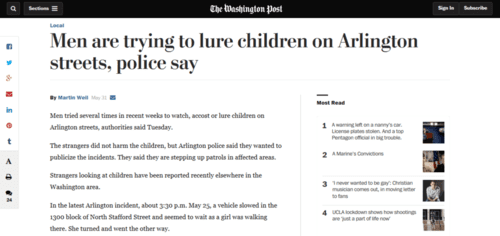 Men are trying to lure children on arlington streets police say   the washington post   2016 06 02 16.24.34
