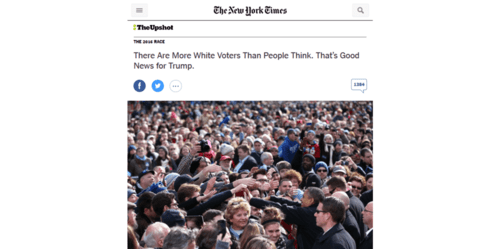 There are more white voters than people think. that's good news for trump.   nytimes.com   2016 06 10 10.00.52