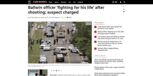 Ballwin officer fighting for his life after shooting suspect charged law and order stltoday.com   2016 07 08 21.36.11