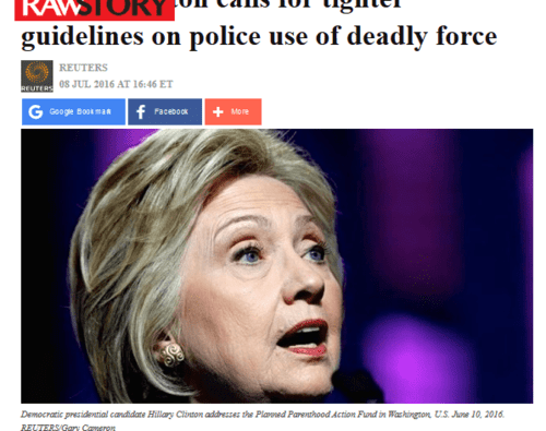 Hillary clinton calls for tighter guidelines on police use of deadly force   2016 07 13 18.22.00