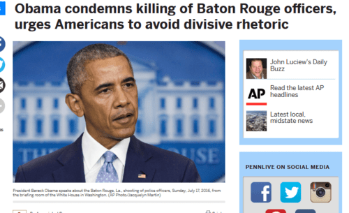 Obama condemns killing of baton rouge officers urges americans to avoid divisive rhetoric pennlive.com   2016 07 17 19.28.40