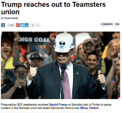Trump reaches out to teamsters union thehill   2016 07 29 22.53.27