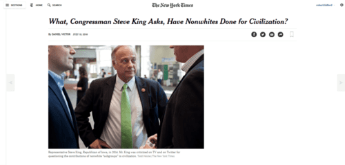 What congressman steve king asks have nonwhites done for civilization   the new york times   2016 07 19 17.38.55