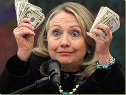 Hillary money hands