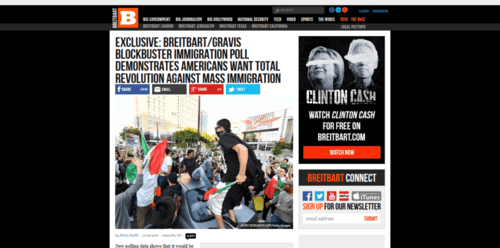 Breitbart gravis immigration poll 6 to 1 americans want less   2016 08 01 19.15.32