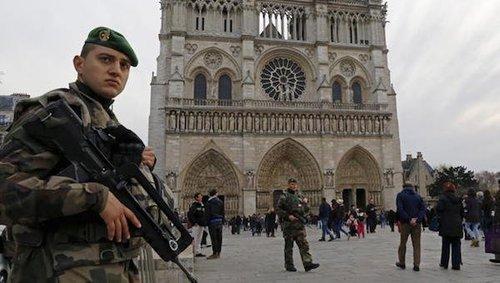 Francenotredamecathedralarmedsecurity