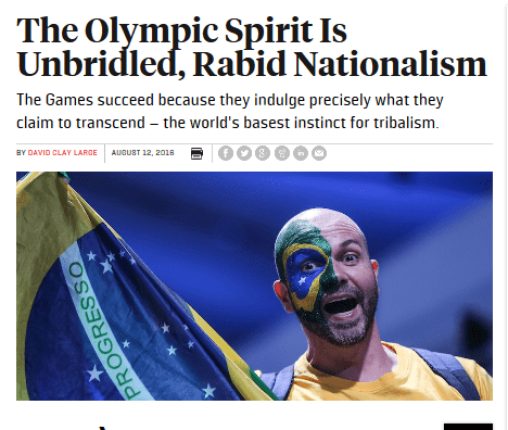 The olympic spirit is unbridled rabid nationalism foreign policy   2016 08 14 14.38.57
