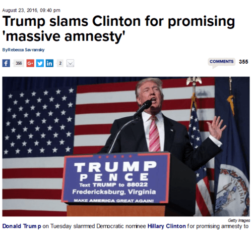 Trump slams clinton for promising massive amnesty thehill   2016 08 24 16.11.19
