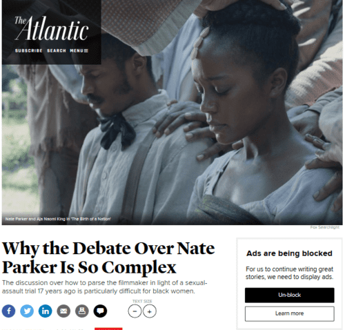 Why the debate over nate parker is so complex   the atlantic   2016 08 21 18.48.58