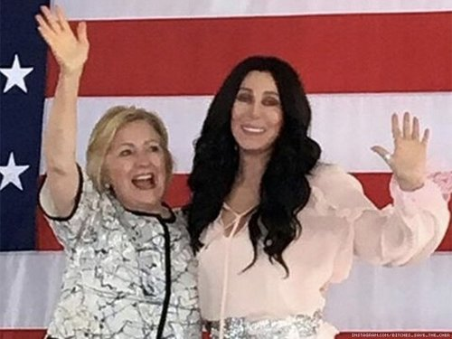 Cher and hillary x750