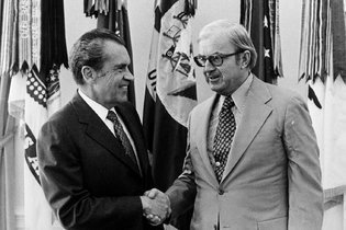 McLaughlin with the President in the White House, 1974