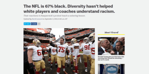 The nfl is 67 black. diversity hasn t helped white players and coaches understand racism.   vox   2016 09 13 20.59.321
