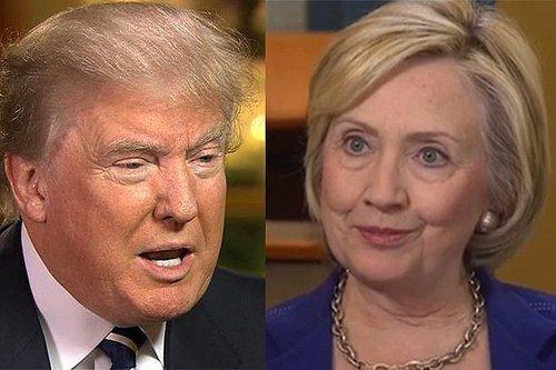 Donald trump hillary clinton split